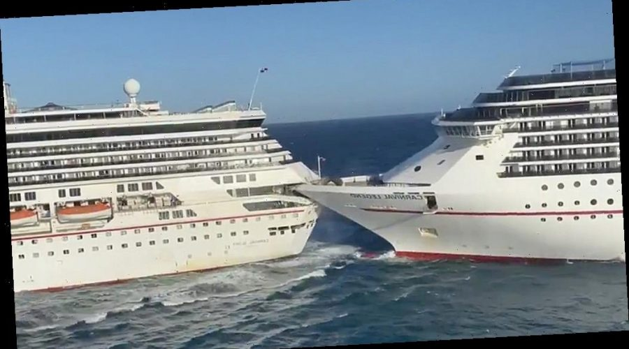 Carnival cruise ships collide at port in Mexico; six minor ...